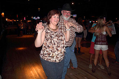 Monique and Jeff dancing at Billy Bobs